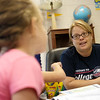 Globe/Roger Nomer<br /> Janet Parker talks with her fourth graders on Wednesday at Cecil Floyd Elementary.