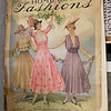 "A Summer 1916 issue of  ""The Home Book of Fashions sits in a bin with countless other source materials for Kay and Emily Ellis.<br /> Globe 