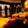 Globe/Roger Nomer<br /> Media members tour the Chihuly in the Gallery exhibit at Crystal Bridges Museum of American Art on May 26.