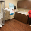 Globe/Roger Nomer<br /> Kasey Turner, Freeman registered respiratory therapist, gives a tour of the new pulminary function lab at the Freeman Lung Institute on Tuesday.