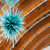 Globe/Roger Nomer<br /> Dale Chihuly's Azure Icicle Chandelier is currently on display at Crystal Bridges Museum of American Art.