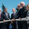 Globe/Roger Nomer<br /> Marc Hahn, president of KCU, prepares to cut the ribbon on Tuesday of the Joplin campus of the Kansas City University of Medicine and Biosciences.