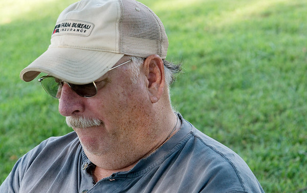 Globe/Roger Nomer<br /> Mike Wilkerson talks about returning home to his farm and family during an interview on Tuesday.