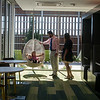 Globe/Roger Nomer<br /> Joshua and Megan Smith explore the lounge area of the Joplin campus of the Kansas City University of Medicine and Biosciences on Tuesday with their children Joy, 5, and James, 1. Joshua Smith graduated from Kansas City University of Medicine and Biosciences in Kansas City and now is a resident with Larry McIntire.
