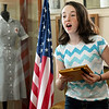 "Ten-year-old Leanna Schlessman belts out a song during auditions for ""Snake County Stories"" on Thursday night at the McDonald County Historic Courthouse. Organizers hope the oral history, which has been presented in the past, will become an annual event.<br /> Globe 