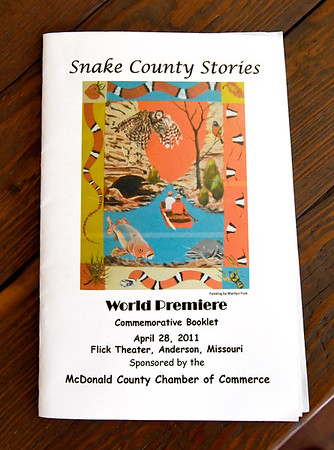 "A playbill from the last production of ""Snake County Stories"" sits inside the McDonald County Historic Courthouse. Organizers hope the oral history, which has been presented in the past, will become an annual event.<br /> Globe 