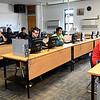 Sarcoxie High School students study in a self-paced environment on Friday at the high school. The district has about 73 percent of its students enrolled in summer school.<br /> Globe | Laurie Sisk