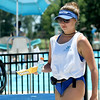 First-year lifeguard Molly Merithew helps keep the concession area at Schifferdecker Pool clean on Tuesday afternoon. <br /> Globe | Laurie Sisk