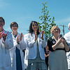 Globe/Roger Nomer<br /> Staff members from the Joplin campus of the Kansas City University of Medicine and Biosciences attend Tuesday's ribbon cutting ceremony at the university.