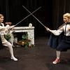 From the left: Taylor Shepard and Devri Chism rehearse on Wednesday afternoon at Missouri Southern's Bud Walton Theatre.<br /> Globe | Laurie Sisk