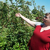 Globe/Roger Nomer<br /> Jendel Wolfe talks about a trellis growing system for blackberries on Friday at the MU Southwest Research Center in Mt. Vernon.