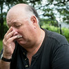 Globe/Roger Nomer<br /> Mike Wilkerson pauses to gather his thoughts as he talks about being accused of a sexual assualt.