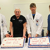 (left to right) Dr. John Cox, Freeman Cardiologist, Dr. Raymond Vetsch, Freeman Cardiothoracic Surgeon, Dr. Ryan Longnecker, Freeman Cardiologist, and Dr. John Nicholas, Freeman Cardiologist, celebrate the completion of the 50th transcatheter aortic valve replacement (TAVR) procedure at Freeman Heart & Vascular Institute on Tuesday at Freeman Hospital West. TAVR is considered an effective option to improve quality of life for many patients who are unable to tolerate a conventional open-heart surgery. Freeman is the first and only hospital in the area to offer the procedure.<br /> Photo Courtesy Freeman Health System