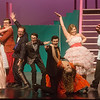 Cast members rehearse a scene from Grease on Tuesday at Joplin High School.<br /> Globe | Roger Nomer