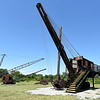 Rescued from the mud, the Markley Shovely stands at the site of Big Brutus and among other artifacts of the mining era in Southeast Kansas.<br /> Globe | Laurie Sisk