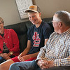 Kara, Dylan and Darren Gallup talk about Dylan's experience with heart surgeries during an interview on Monday in Lockwood.<br /> Globe | Roger Nomer