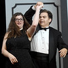 "Genna Reid, left and JJ Ramos rehearse their roles for the upcoming Stone's Throw Dinner Theatre production of ""Some Enchanted Evening"" on Wednesday night at the Carthage theater. The Rodgers and Hammerstein musical opens June 27 under the direction of Mark Sponaugle. Music director is Peter Frost.<br /> Globe 