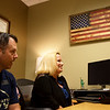 Jamie and Maghan Alberts talk about their experience with the GI Bill during an interview at Missouri Southern on Thursday.<br /> Globe | Roger Nomer