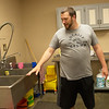 Caleb Stiles, food service director, talks about the kitchen expansion at the YMCA's new facility in Carthage.<br /> Globe | Roger Nomer