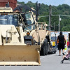 Large pieces of equipment from the Army National Guard line the north part of the square during Celebrate Neosho on Saturday on the Neosho Square. The event kicks off a host of Fourth of July events in the Four State area.<br /> Globe | Laurie Sisk