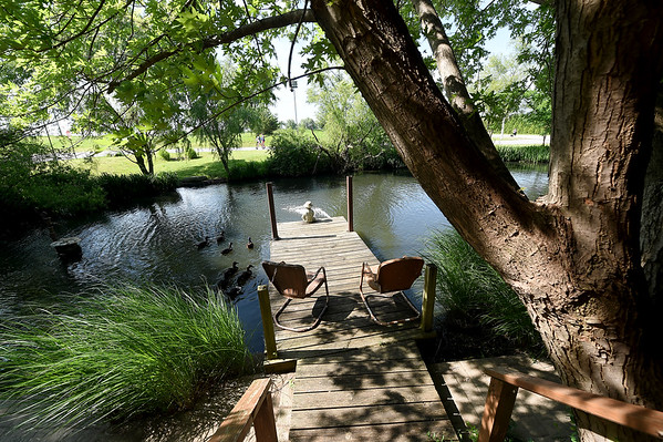 A small pond in the only residence in Webb City's King Jack Park offers a peaceful and relaxing scene to passersby. The home is the residence of Stan and Jeanne Newby. Jeanne, known as the unoffical historian of Webb City, was recently recognized by a Missouri House declaration for her service to the community.<br /> Globe | Laurie SIsk