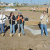 Globe/Roger Nomer<br /> Family, Justice League members and Habitat officials gathered for the ceremonial groundbreaking at 2630 Wall on Oct. 8, 2012.
