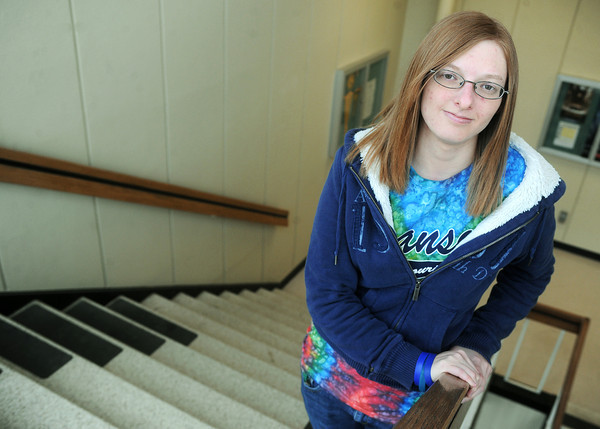 Globe/Roger Nomer<br /> Kristen Stacy, a Missouri Southern sophomore from Joplin, is a member of the Equality Alliance on campus.