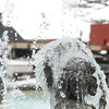 Globe/Roger Nomer<br /> The cupids in the Spiva Park fountain show icey signs of the cold weather on Monday morning.
