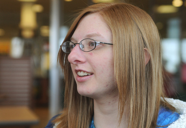Globe/Roger Nomer<br /> Kristen Stacy, Missouri Southern sophomore from Joplin, talks about how the Trevor Project helped give her resources during high school.