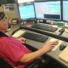Globe/Roger Nomer<br /> Stephanie Ayres works at the Joplin Police dispatch unit on Monday morning.