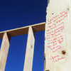 Globe/Roger Nomer<br /> Tomie Avant, the previous owner of the 2630 Wall lot, left this message for the new owners.
