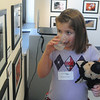 Globe/Roger Nomer<br /> Spiva photographer Bella Loudermilk, 7, brought a friend along to the PhotoSpiva Kids opening on Sunday.