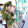 "Grayson Hall, 12, of Kansas City, dresses as his favorite character, ""Link"" from The Legend of Zelda video game during Thurd Thursday on Main Street.<br /> Globe 