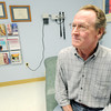 Cherokee County resident Carl Hayes talks Friday at the Freeman Cancer Institute about the benefits of an oral cancer drug he took after being diagnosed with melanoma. Hayes is currently in clinical remission.<br /> Globe | Laurie Sisk