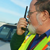 Globe/Roger Nomer<br /> Local storm spotter Ray Brown, Joplin, talks on his ham radio on Feb. 27, 2014.