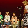 Globe/Roger Nomer<br /> Kayley Lynn Ball, a fifth grader from College Heights Christian School, closes her eyes as she spells a word at the annual Joplin Globe Spelling Bee on Monday at Thomas Jefferson Independent Day School.