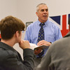 Globe/Roger Nomer<br /> Tom MacQueeney leads his AP Literature and Composition class at Joplin High on Tuesday.