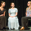 "From the left: Audrey Garoutte (Kathryn), Sophia Day (Grace) and Mati Goebel (Irene) rehearse their roles for the Carl Junction High School production of ""The Radium Girls"" on Friday at the Jerry B. Stark Performing Arts Center.<br /> Globe 