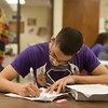 Globe/Roger Nomer<br /> Kameron Reece, sophomore, works on a biology project on Wednesday at Pittsburg High School.