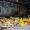 Globe/Roger Nomer<br /> The interior of the Joplin Workshops laundry building shows fire damage.
