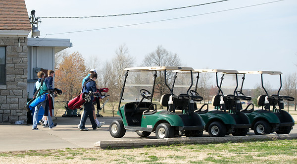 Joplin and Galena students take to the links for practice on Thursday at Schifferdecker Golf Course.<br /> Globe | Laurie Sisk