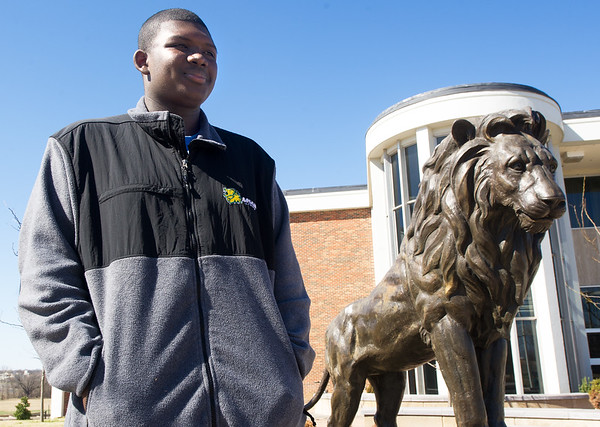 "Lorenzo Harrison, Missouri Southern student who portrays mascot ""Roary"" has been the first to be accepted into Disney's internship program in cooperation with MSSU.<br /> Globe