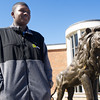 """Lorenzo Harrison, Missouri Southern student who portrays mascot """"Roary"""" has been the first to be accepted into Disney's internship program in cooperation with MSSU.<br /> Globe