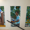 Globe/Roger Nomer<br /> Missouri Southern students have painted a mural in Spiva Library.