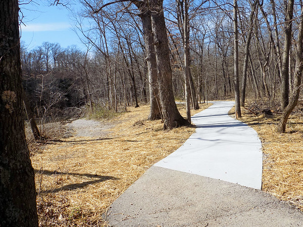 Globe/Marta Churchwell<br /> Woodland Loop was concreted for wheelchair accessibility.