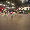 Members stretch out before a cross fit class on Tuesday at Midwestern Built.<br /> Globe | Laurie Sisk