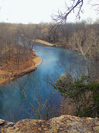 Globe/Marta Churchwell<br /> Shoal Creek from the bluffs