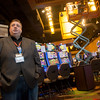 Globe/Roger Nomer<br /> Doug Fisher, vice president and general manager of the Kansas Crossing Casino, gives a tour of the gaming floor on Thursday.