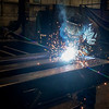 Globe/Roger Nomer<br /> Allen Mitchell, welder, welds a truck scale on Tuesday at Cardinal Scales.
