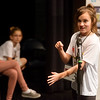 Globe/Roger Nomer<br /> Emilia Campbell, a fifth grader at Eastmorland Elementary, spells a word for the judges during Monday's Joplin Globe Spelling Bee at Thomas Jefferson Independent Day School.
